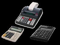 Calcolatrici Casio Olivetti Sharp da tavolo, scriventi